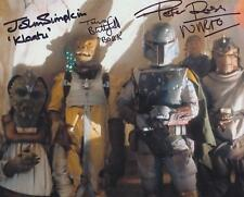 STAR WARS BOUNTY HUNTERS Triple Signed Photo - 3 GENUINE AUTOGRAPHS UACC (R9921)
