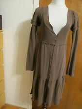 LaRok Women's brown buttoned dress w/buttoned sleeves Small