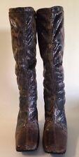 LuiChiny  Ladies Animal Print Mid-Calf Italian Boots Size:EURO 37, USA 7