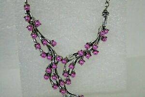 JTV 2419768 Women's NECKLACE PINK SHOWERING BEADS and PIERCED EARRINGS