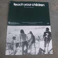 "Crosby, Stills, Nash & Young ""Teach Your Children"" Sheet Music. Vintage 1970s."