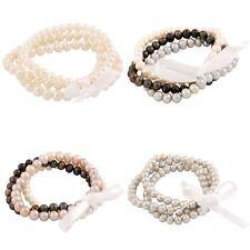 Set of 3 Freshwater Pearl Individual Elastic Bracelets FGB-01-3