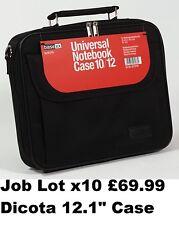 """Job lot wholesale x10 dicota housse pour ordinateur portable notebook bandouliere 12.1"""" noir nouveau"""