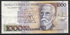 Brésil Billet de 1000 cruzados surchargé de 1cruzados