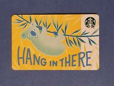 "2018 Starbucks ""Hang In There' Koala Gift Card Reloadable Empty RARE"