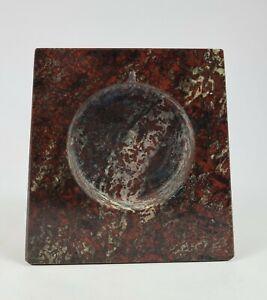 Rare 19th C. Small Red Cornish Serpentine Stone Small Clock or Barometer Case