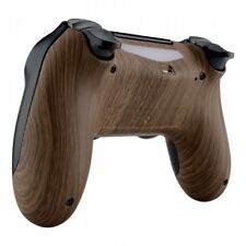 Wood Grain Cover Bottom Shell Replacement Mod for PS4 Slim Pro Game Controller