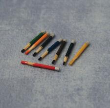 Crayon Set, maison de poupées miniatures, miniatures, papeterie, échelle 1.12 Crayons