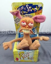 "Vintage Ren & Stimpy Show REN HOEK 10"" Plush Doll in Box Mattel Nicktoons 1992"