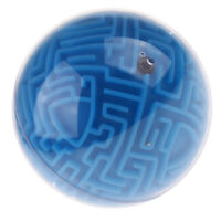 Kids Children Christmas Gift 3D Maze Ball Puzzle IQ Mind Trainign Toy Blue