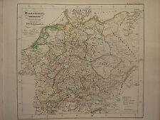 1846 SPRUNER ANTIQUE HISTORICAL MAP ~ ITALY ROME SICILY CAMPANIA