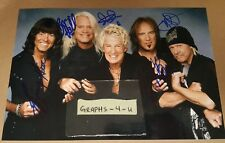 REO Speedwagon Signed Kevin Cronin Authograph Bruce Hall Neal Doughty COA