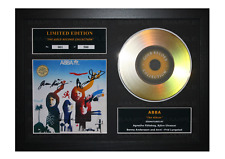 More details for abba signed gold disc album ltd edition framed picture memorabilia