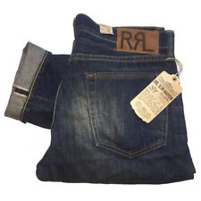 RRL Ralph Lauren Selvedge Jeans Fenwood Wash Made in USA W31 L34 RRP £310 NEW