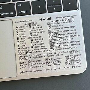 SYNERLOGIC Apple Macbook Pro/Air/iMac/Mini Keyboard Shortcut Sticker Vinyl