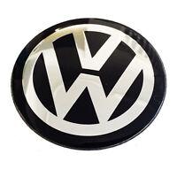 1 x 65mm Domed Badge Golf Jetta Lupo Polo Passat Sticker Center for Wheel Caps
