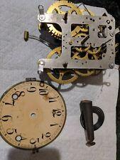 Nice Wm. Gilbert Clock Movement, Dial And Gong