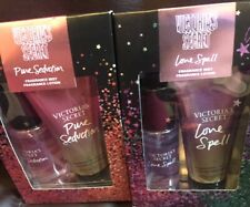 Victorias Secret Lot Of 2 Mist & Lotion Gift Sets In Pure Seduction & Love Spell
