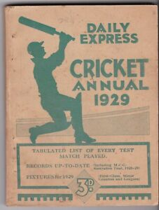 Daily Express Cricket Annual 1929