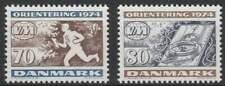 Denemarken postfris 1974 MNH 573-574 - WK Orienteringloop
