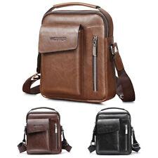 Men's Leather Messenger Bag Waterproof Handbag Cross Body Tote Shoulder Satchel