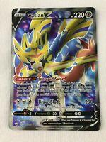 Zacian V FULL ART ULTRA RARE 195/202 Pokemon SWSH Base Set Holo NM 2020