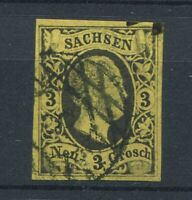 German States - Saxony : Michel # 6 from 1851 - used