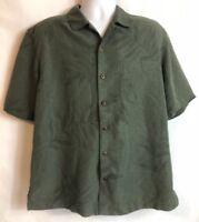 "CARIBBEAN JOE Mens Size Large Shirt  Hawaiian Aloha Green ""Let Go""(31)"