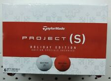 7 dozen new TaylorMade Project (s) Holiday Edition golf balls