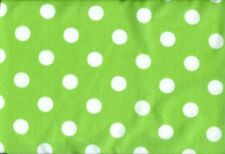 15  5 x 5 inch Squares in Green with White Pok-A-Dots