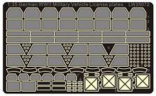 Alliance Model Works 1:35 WWII German Mil. Vehicle License plate set LW35072*
