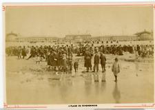 Pays Bas, Plage de Scheveningue Vintage albumen print Tirage albuminé  10x14
