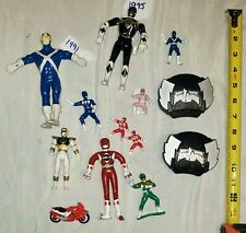 Vintage Lot of 10 Mighty Morphin Power Rangers Action Figures MMPR 1990s