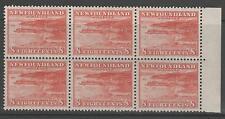 NEWFOUNDLAND SG227 1932 8c BROWNISH-RED MNH BLOCK OF 6