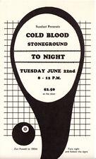 ORIGINAL / SCARCE MINTY COLD BLOOD with STONEGROUND - PORTLAND CONCERT HANDBILL
