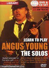 Lick Library Angus Young Ac/dc los solos de Vuelta En Negro Rock lección Guitarra Dvd