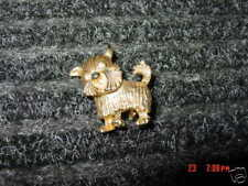 Vintage,Pin,Brooch,Scotty,Dog,Unsigned,Goldtone,Puppy