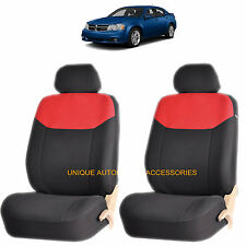 RED ELEGANT AIRBAG COMPATIBLE FRONT LOWBACK SEAT COVERS for DODGE RAM CHARGER