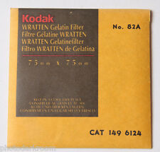 "Kodak Wratten No. 82A Gelatin Filter - 149 6124 - 75x75mm 3x3"" Square - NEW"
