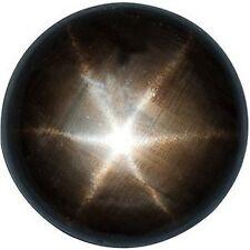 ONE 5mm Flat Low Dome Round Black Star Sapphire Cabochon Cab Gemstone EBS1241