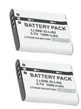 2 LI-50B Batteries for Olympus TG-805 TG-610 TG-810 SP-800UZ SP-810UZ SZ-10 SZ20