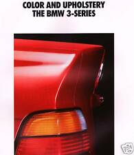 1992 BMW COLOR & UPHOLSTERY BROCHURE-318is-325i-325is
