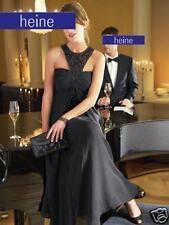NEU TRAUMHAFTES ABENDKLEID GEORGETTE mit CHASUBLE GR. 34 HEINE schwarz *049834