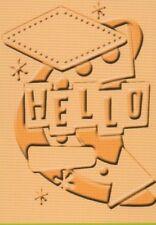 "Cuttlebug Carpeta de grabación en relieve ingenioso años cincuenta-Hola 5""x7"" reducido"
