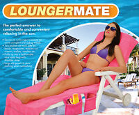 Vivo Lounger Mate Beach Towel Sun Lounger for Holiday Garden Lounge with Pockets