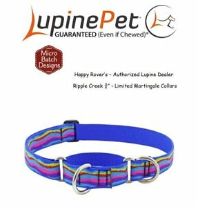 "Lupine Lifetime Training Martingale Dog Collar 3/4""  RIPPLE CREEK"