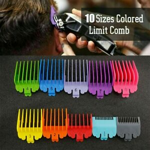 10 PCS For WAHL Hair Clipper Comb Guide Trimmer Guards Attachment (UK SELLER)