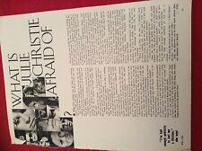 m12s ephemera 1969 film article what is julie christie afraid of