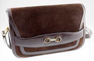 Gucci Vintage Suede Saddle Bag w/ Adjustable Strap and Cotton Pouch