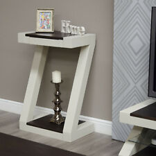 Z Oak Painted Hallway Furniture Small Hall Console Table (Wenge Top)